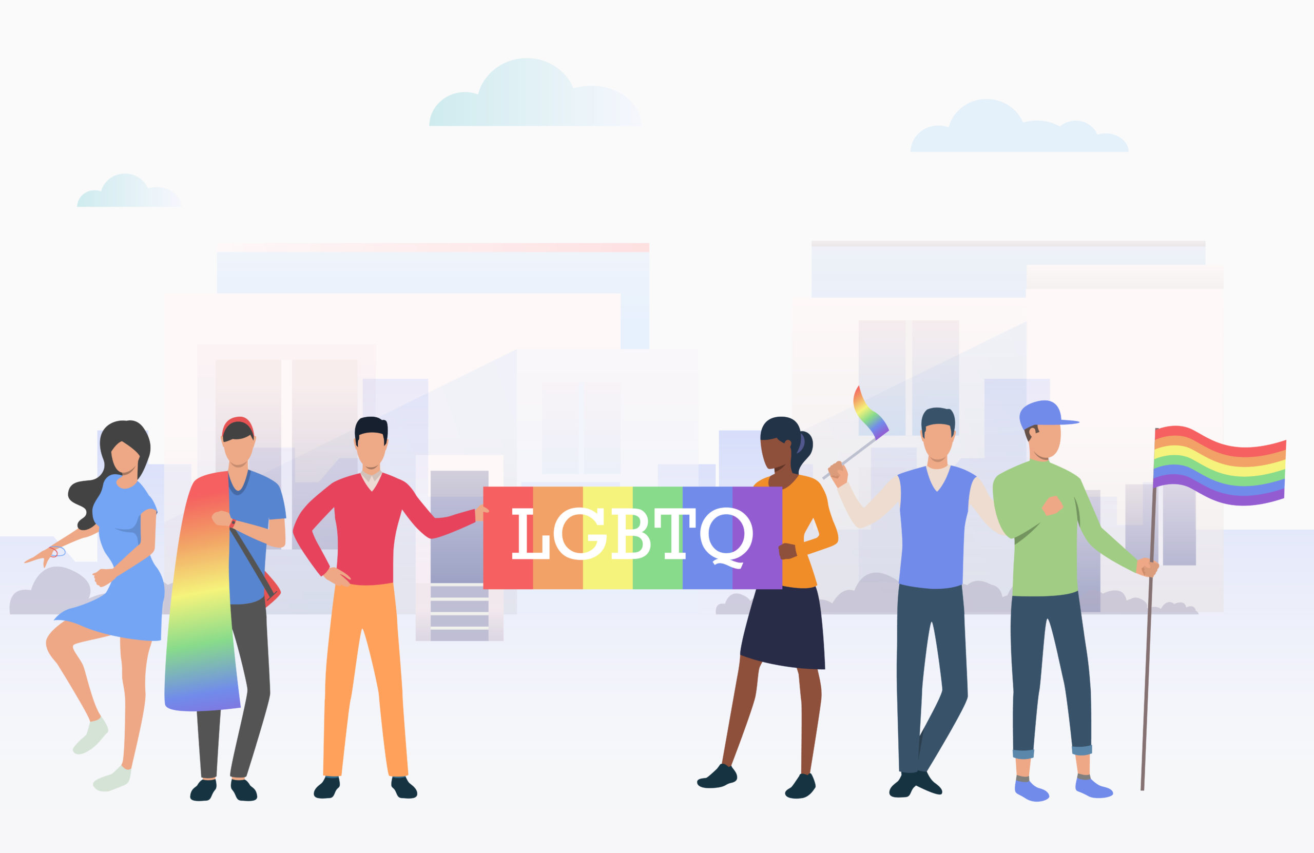 What does each letter in LGBTQ stand for?